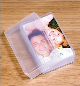 Clear Plastic Playing Card Box
